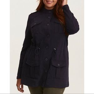 Torrid FRENCH TERRY KNIT MILITARY JACKET